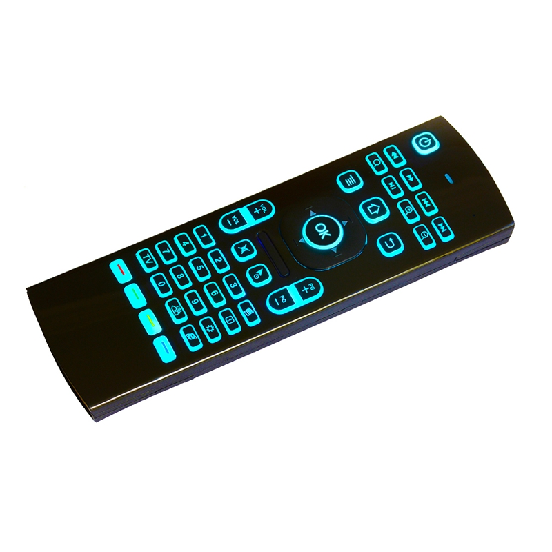 MX3 2.4GHZ Wireless 7 Colors Backlit Keyboard Mouse IR Learning Remote Controller For Android TV Box PC