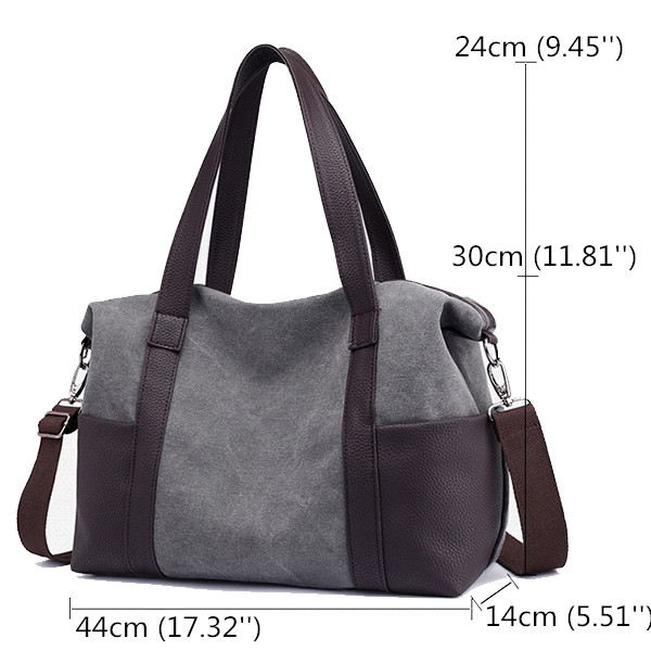 Women Canvas Durable Large Capacity Handbag Multi-function L