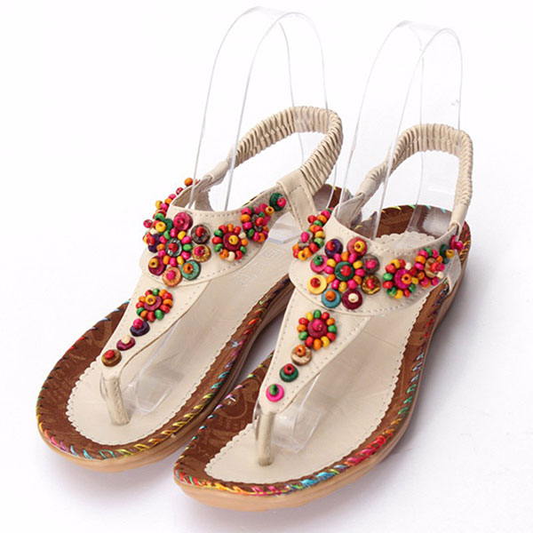 Bohemia Agate Diamond Beads Sandals Flowers Shape Splice Sandals