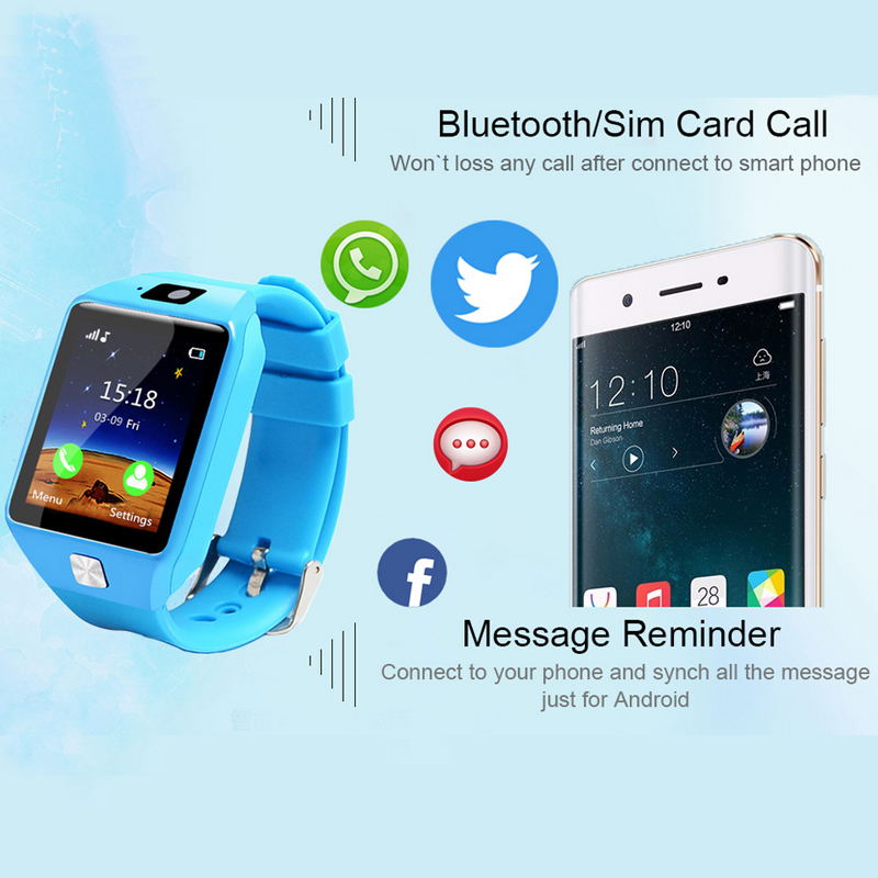 ENOCH Kids Sim Card Anti-lost Sleep Monitor Calendar Pedometer bluetooth Smart Watch