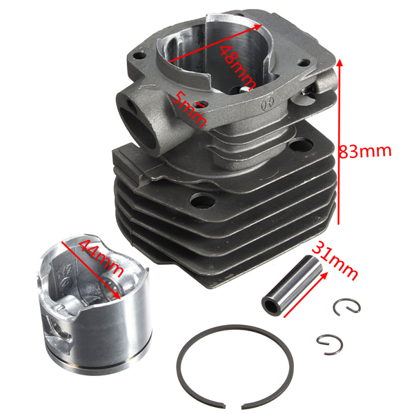 44mm Cylinder Piston Ring Chain Saw Kit For Husqvarna 350 346 351 353