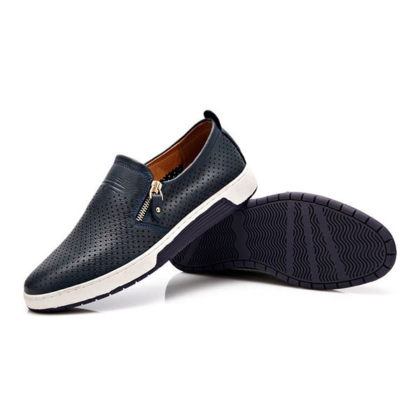Men Casual Genuine Leather Flats Oxfords
