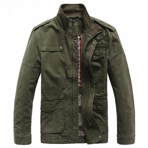 Big Size S-5XL Men Outdoor Autumn Cotton Jacket Outwear
