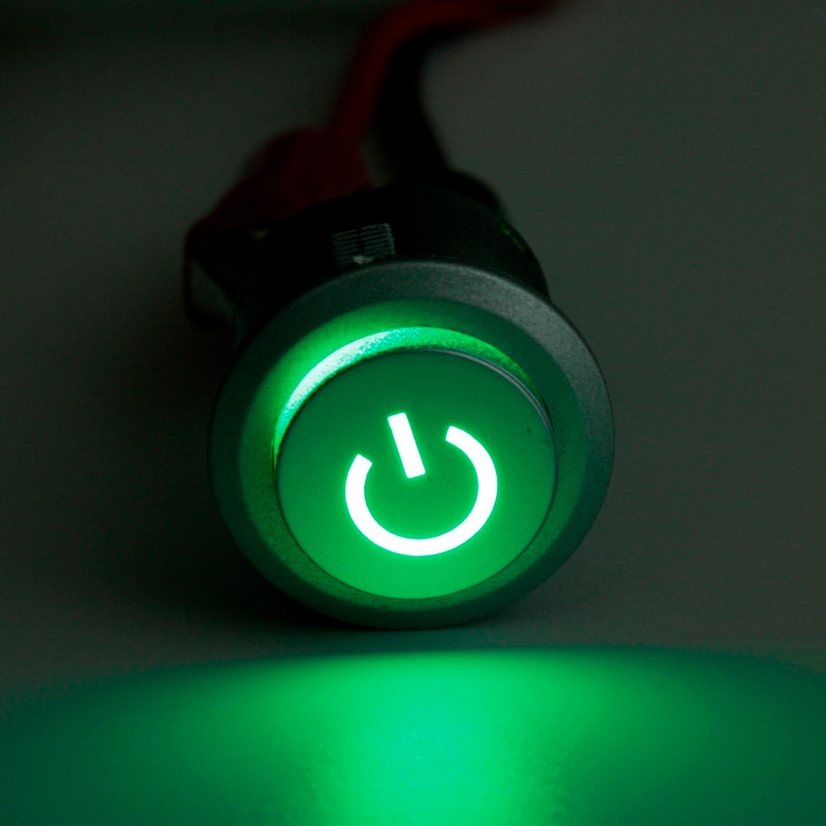 2pcs 12v 22mm Led Auto Lock Power Push Button On Off Switch Green And
