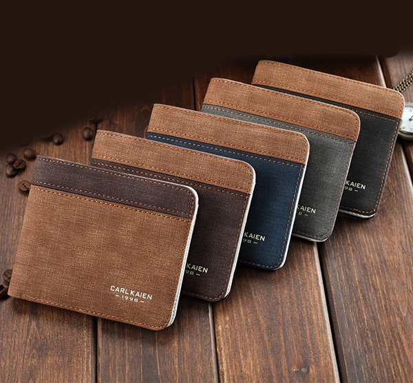 Patchwork PU Leather Wallet Horizontal Card Holder Casual Coin Purse For Men