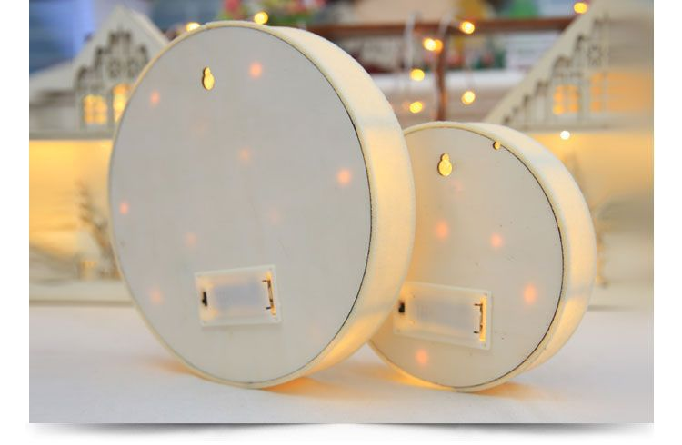 Christmas 2017 LED Night Light Wooden Round Lamp Wall Lights Hanging Tabletop Christmas Gifts