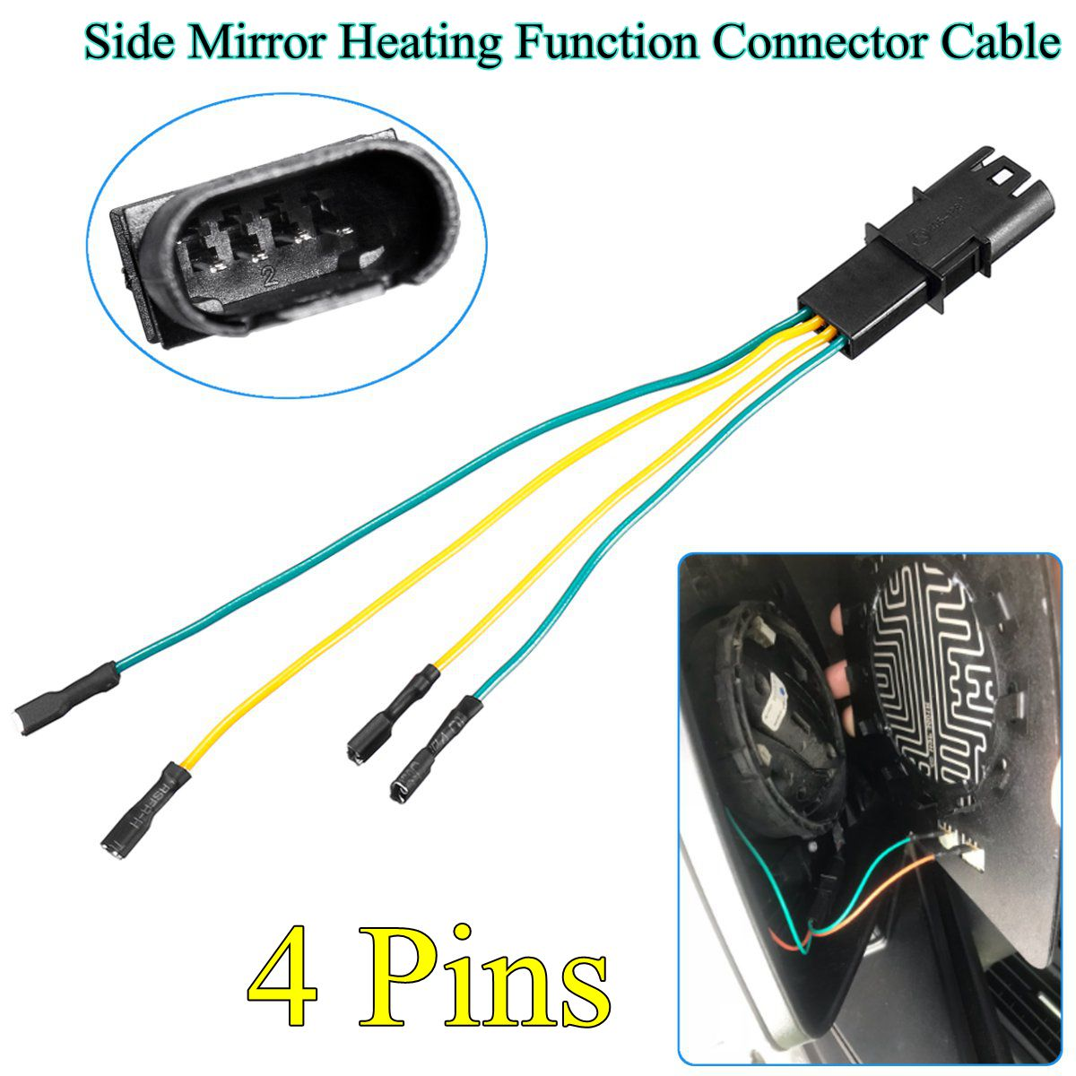 12v Side Mirror Heating Function Connector Cable Wire For Bmw Sale Acb Wiring Shipping Methods