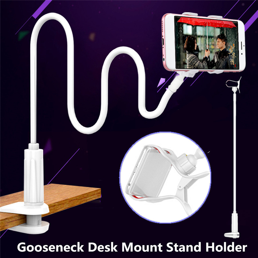 Universal Gooseneck Phone Stand Holder For 4 to 6.5 Inch Smartphone Tablet