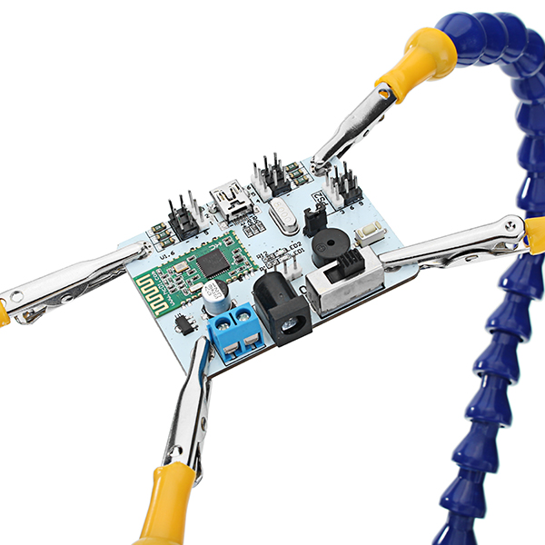 Universal Strange Third Hand Four Arms Soldering Station PCB Fixture with Heavy Metal Base