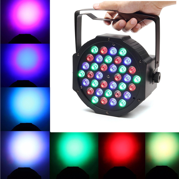 36W RGB LED Stage Light PAR DMX-512 Light Laser Projector Party DJ Light