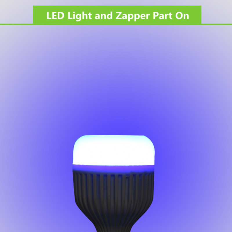 E27 15W Three Modes Anti-Mosquito Flying Moths Killer Insects Zappers LED Light Bulb AC85-265V