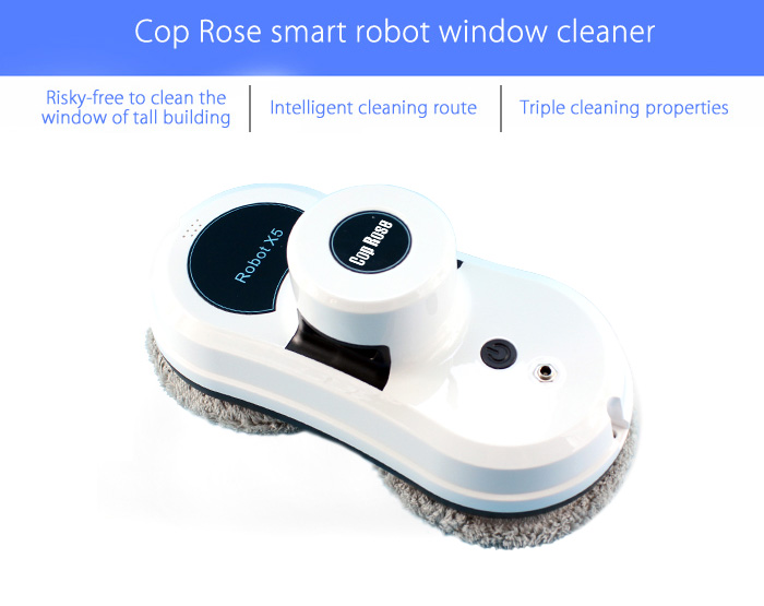 Cop Rose X5 Smart Window Cleaning Robot Cleaner Glass Clean Machine Remote Control