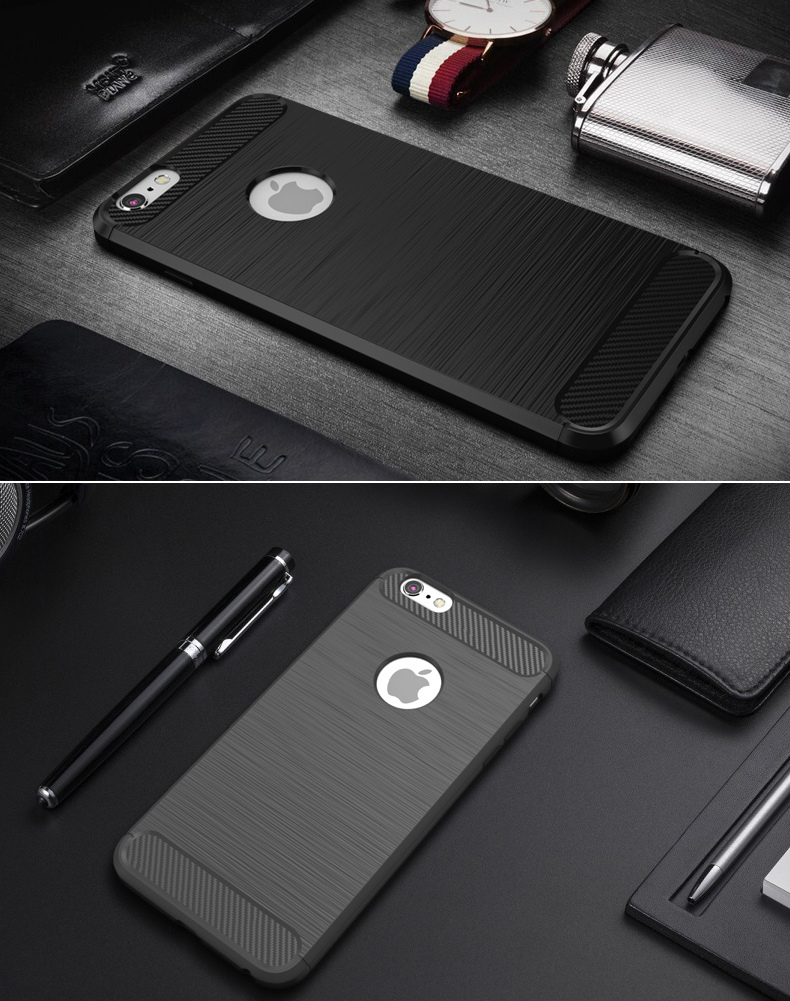 Bakeey Dissipating Heat Carbon Fiber TPU Case For iPhone 6 6s
