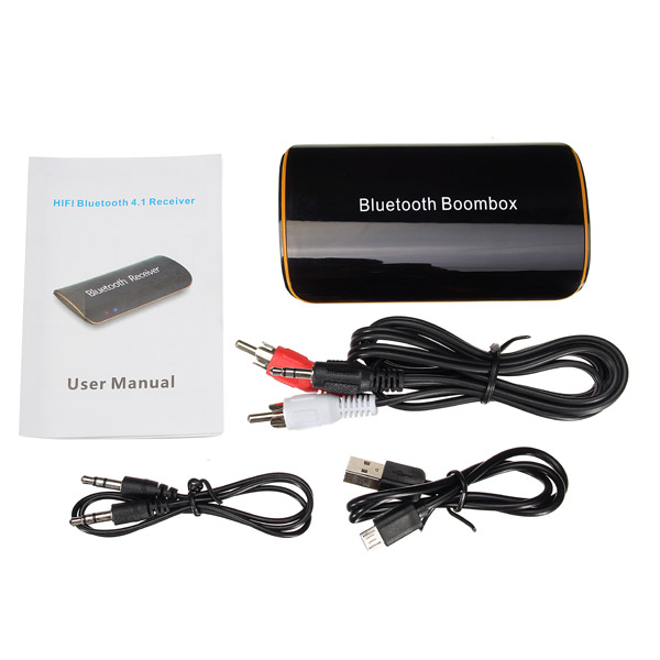 AB1510 bluetooth 4.1 Boombox Receiver Hifi Multifunctional 3.5mm Stereo Interface Built-in Battery