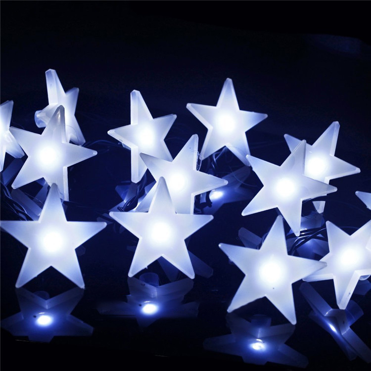 KCASA 3M 30 LED Frosting Star String Lights LED Fairy Lights for Festival Christmas Halloween Party Wedding Decoration Battery Powered