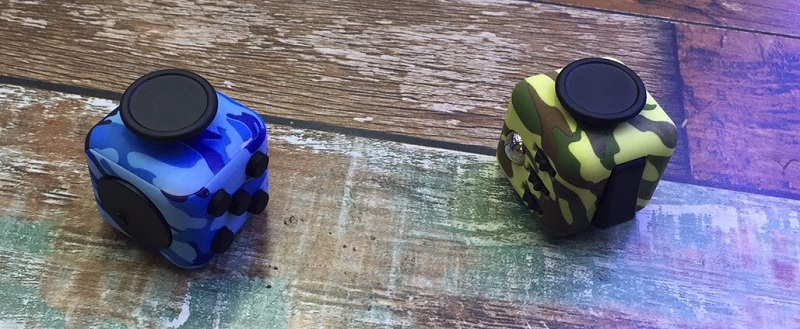 Camouflage Fidget Dice Cube Box Magic Toy Relieves Stress Squeeze Fun Fidget Gift Autism ADHD Kids