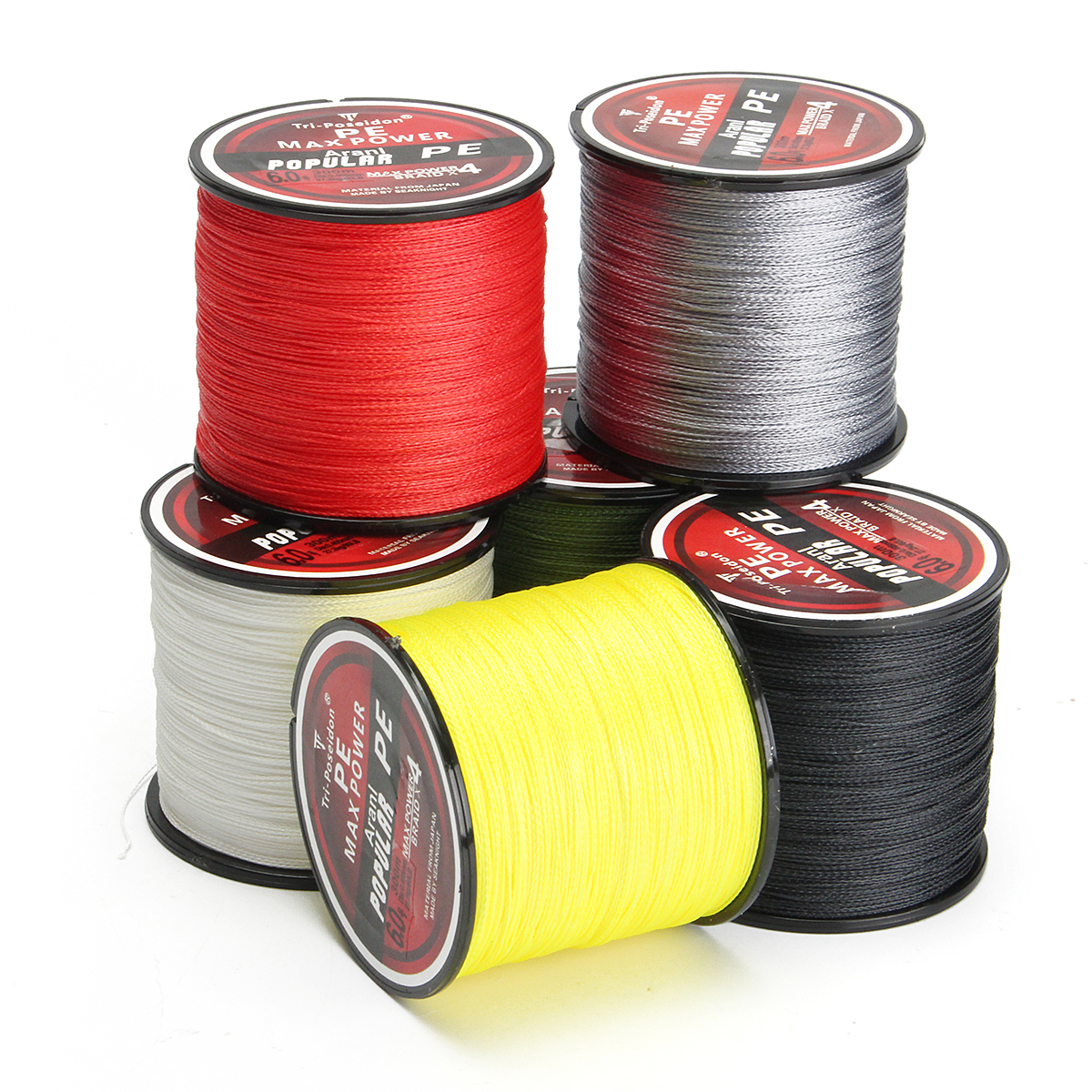 300M Super Strong 4 Strands PE Spectra Braided Wire Fish Rope Sea Fishing Lines 8-60LB