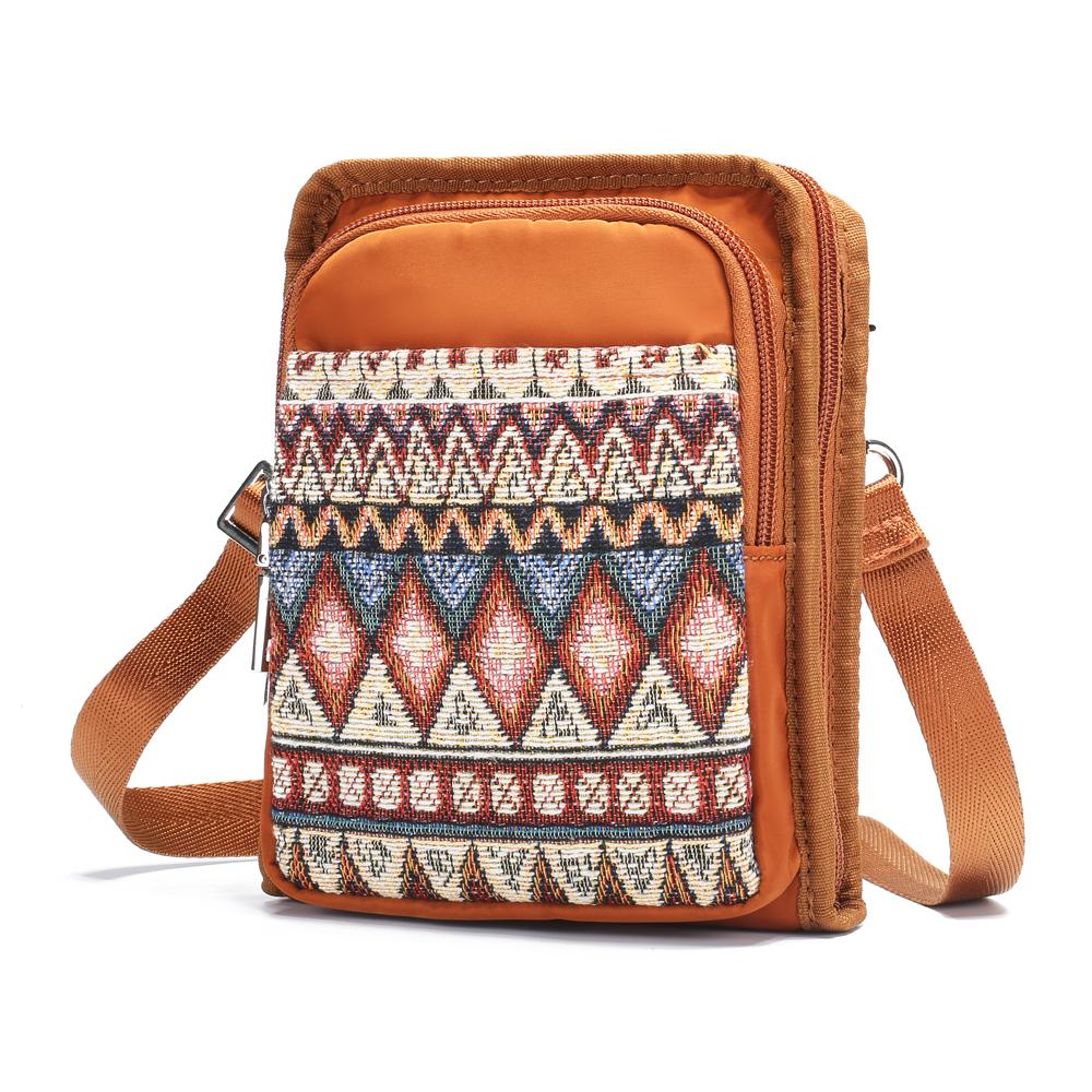 Brenice Women Canvas Bohemian Shoulder Crossbody Bag