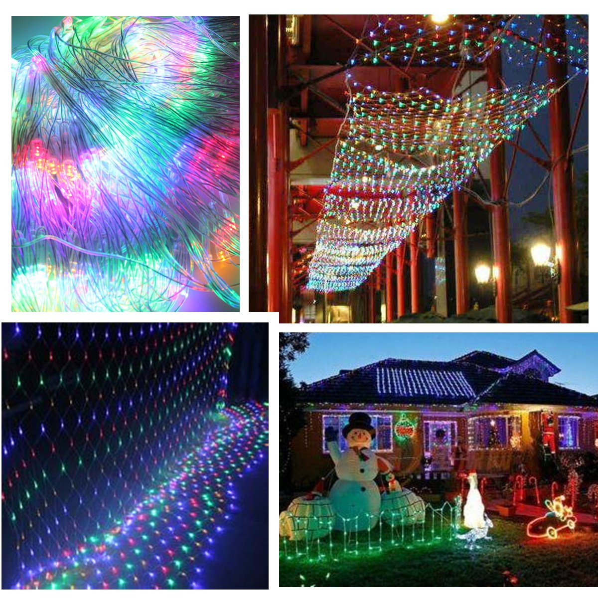 120 Multicolored-led Web Net Fairy Waterproof Light For Christmas