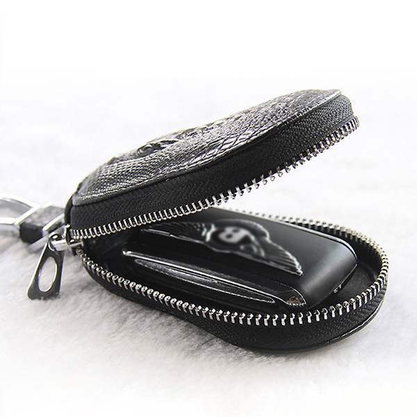 Men Women Genuine Leather Car Key Case Key Bag Wallet