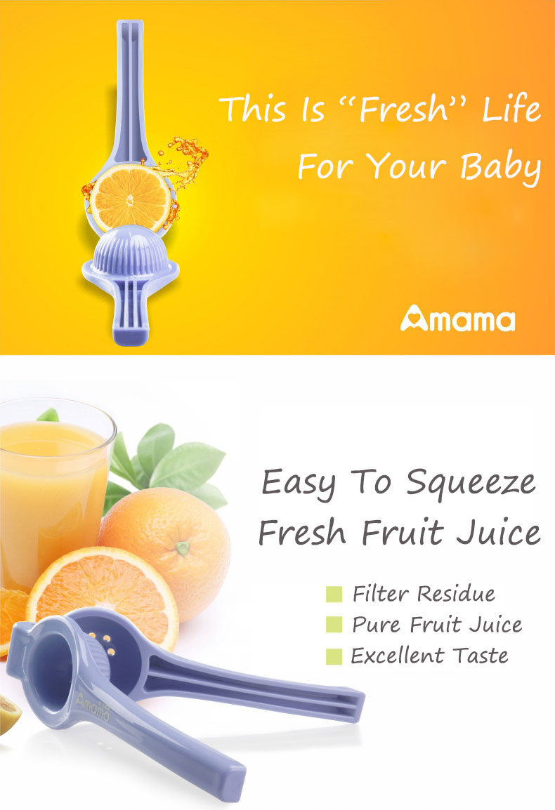 Amama™ Baby Fruit Squeeze Orange Lemon Juice Manual Press Squeezer Home Mini Machine