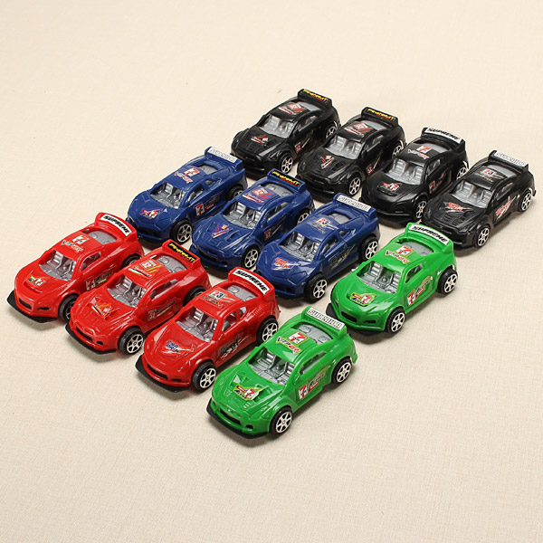 12xHZ Slide Racing Car Toys with Light Color Random