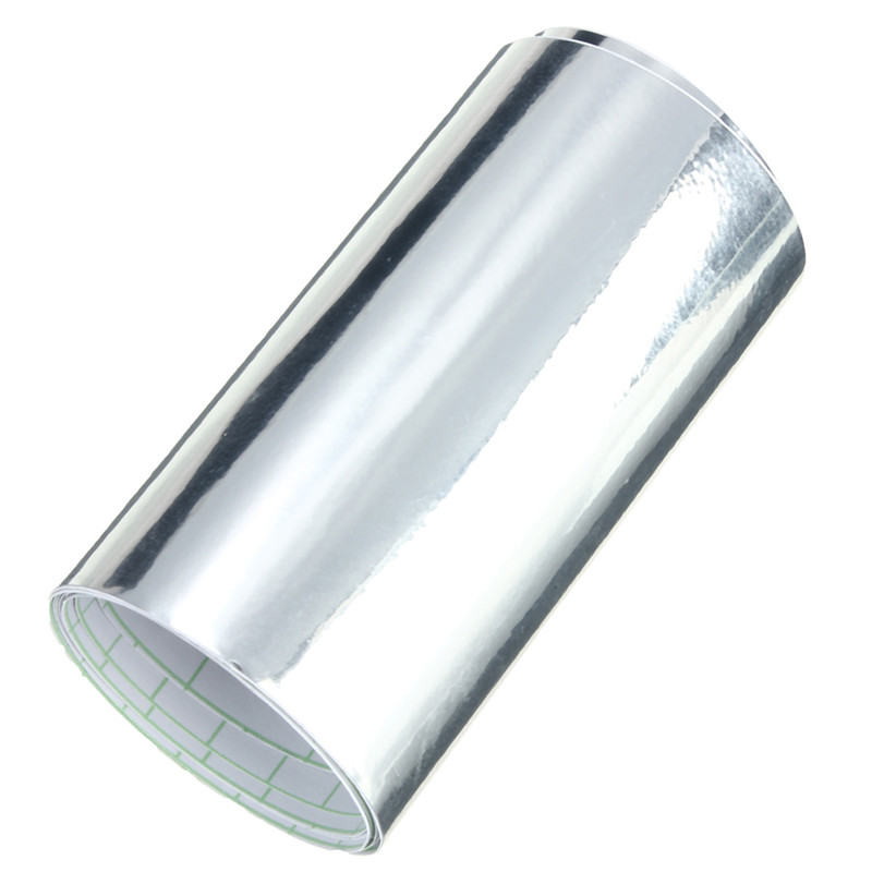 10x152cm Car Mirror Chrome Silver Vinyl Wrap Sticker Decal Film Sheet Car Boat