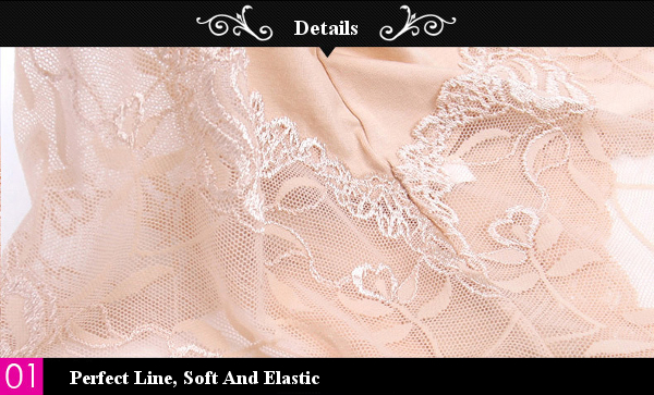 Seduced Hollow Lace Mid Waist Panties