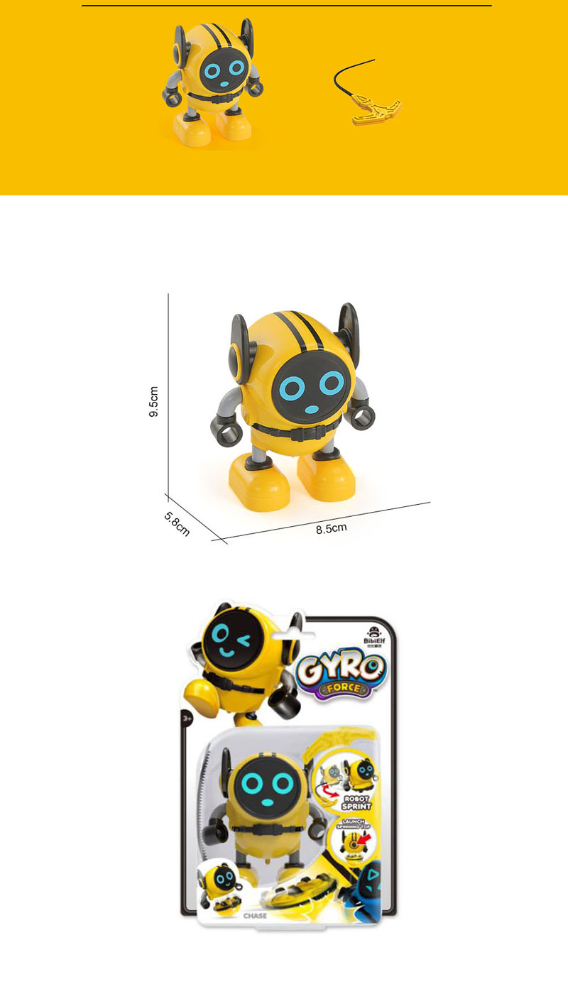 New Gyro Car Xiaobao Snail Gyro Clockwork Toy Inertia Car Robot Force Control Gyro With Sucker Packaging