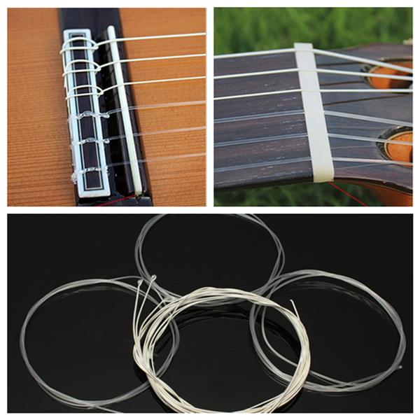 6pcs Nylon String Silver Strings Gauge Set For Classical Acoustic Guitar