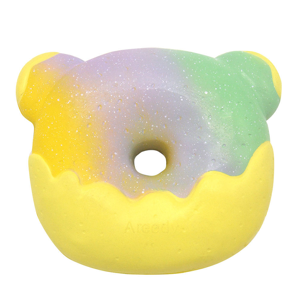 Areedy Galaxy Donuts Bear Eating Watermelon Squishy 13CM Licensed Slow Rising With Packaging