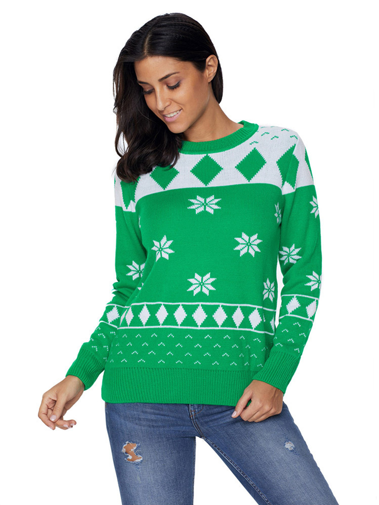 Christmas O-Neck Long Sleeve Sweater