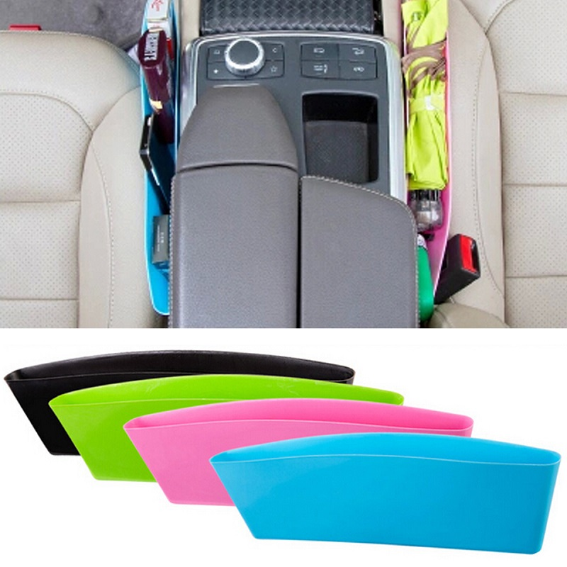 Car Seat Seam Plastic Pocket Holder Storage Pouch Box Bag Phone Case Organizer