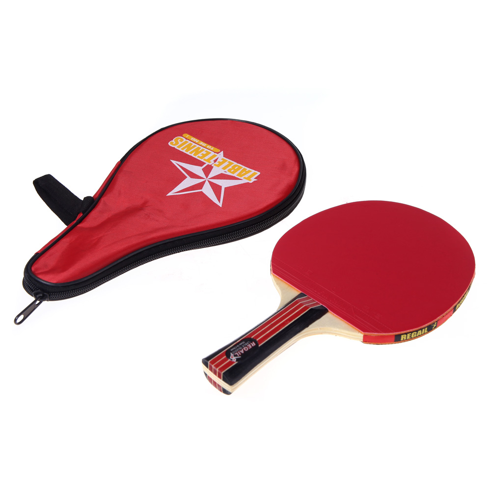 Long Handle Shake-hand Table Tennis Racket Waterproof B