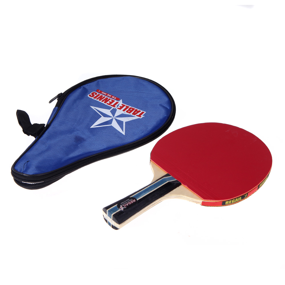 Long Handle Shake-hand Table Tennis Racket Waterproof Bag Pouch Red Indoor Table Tennis Accessory