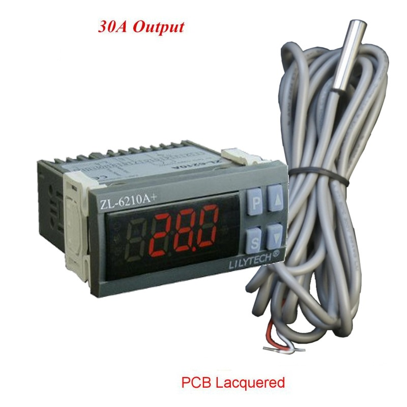 ZL-6210A+ 30A Output Digital Temperature Meter Digital Thermometer Thermostat