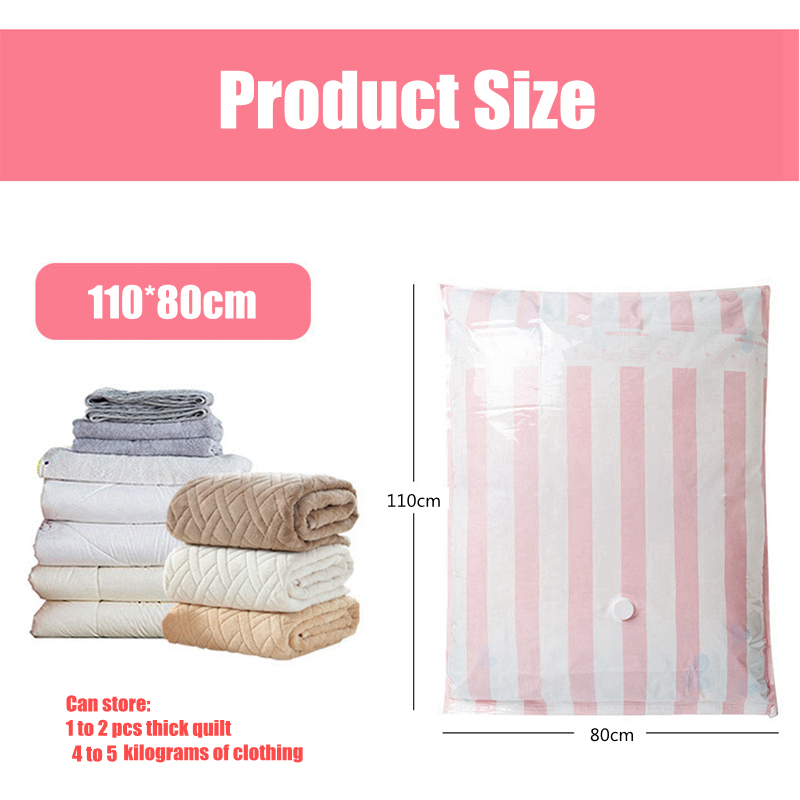 IPRee® 110x80CM Vacuum Bag Roll Up Packing Clothes Storage Pack Organizer