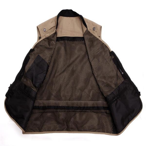Men Summer Autumn Multifunctional Quick Drying Mesh Fishing Vest Jacket Loose Multi Pocket
