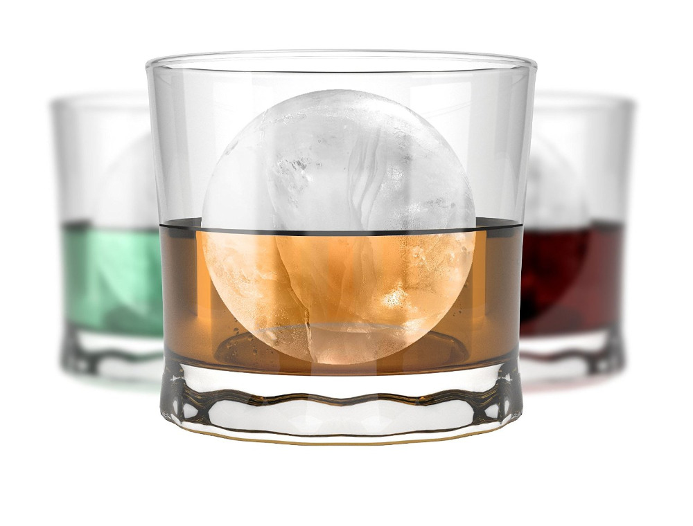 KCASA KC-IT01 4 Holes Large Ball Shape Silicone Ice Cube Sphere Whiskey Cocktail Drinks Ice Mold