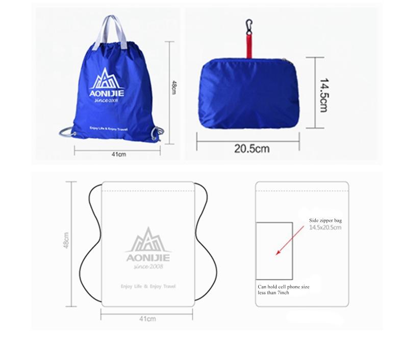 Außen Folding Sport Rucksack wasserdichte Nylon Training Bag Basketball Swimmig Pouch