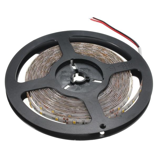 5M SMD2835 300 LED Waterproof Warm White Tape Strip Light + PIR Motion Sensor Switch Detector DC12V