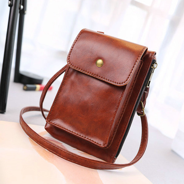 Hasp Long Wallet Shoulder Bags Crossbody Bags Phone Case Bags For Iphone Huawei Samsung
