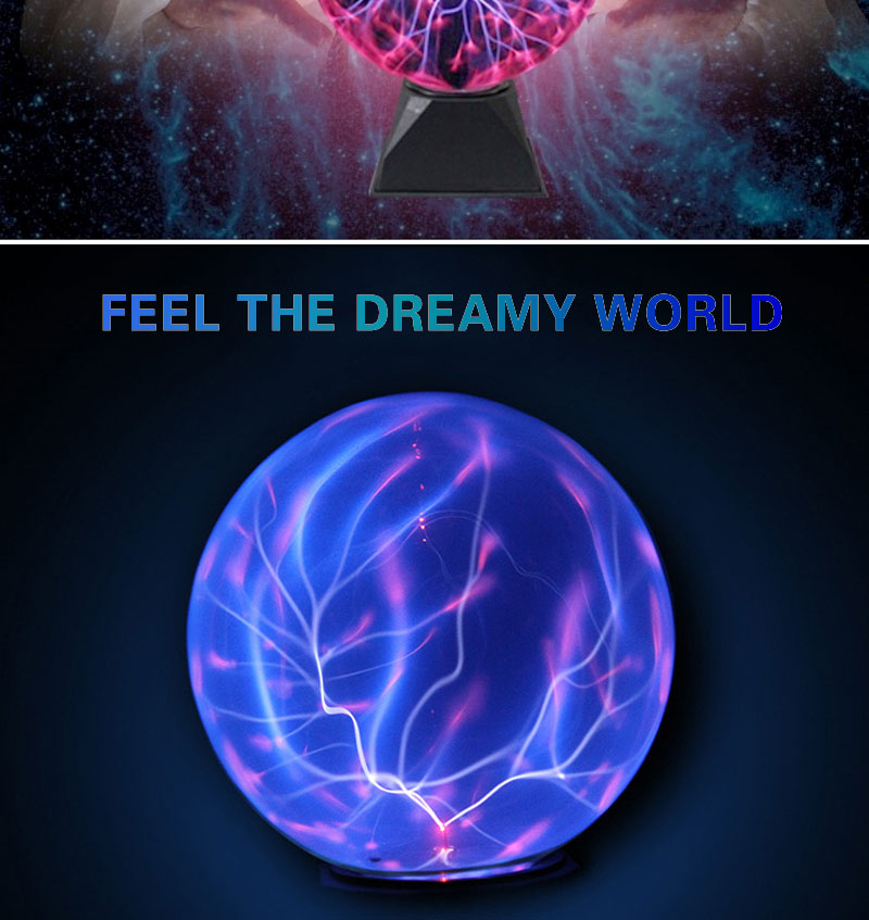Plasma Ball Light Magic Crystal Ball Lamp Ion Sphere Lightning Carnival Atmosphere Lamps Purify Air Novelty Night Lights Home Decor