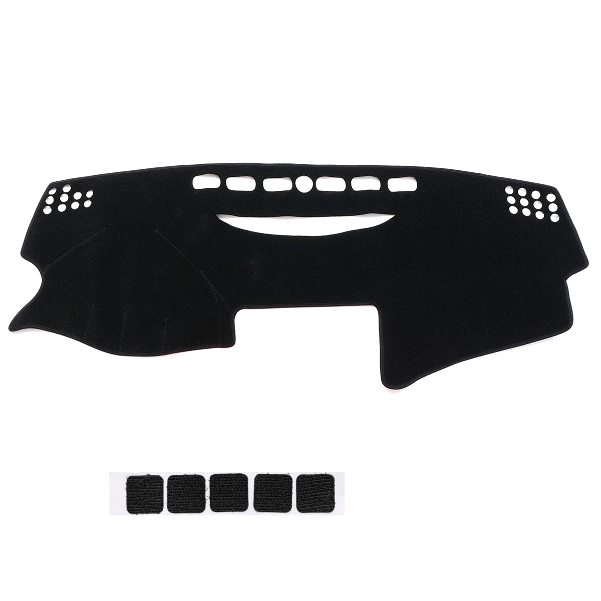 Black Left Hand Non-Slip Car Dash Mat Dashboard Cover Pad for Toyota Camry 2007-2011