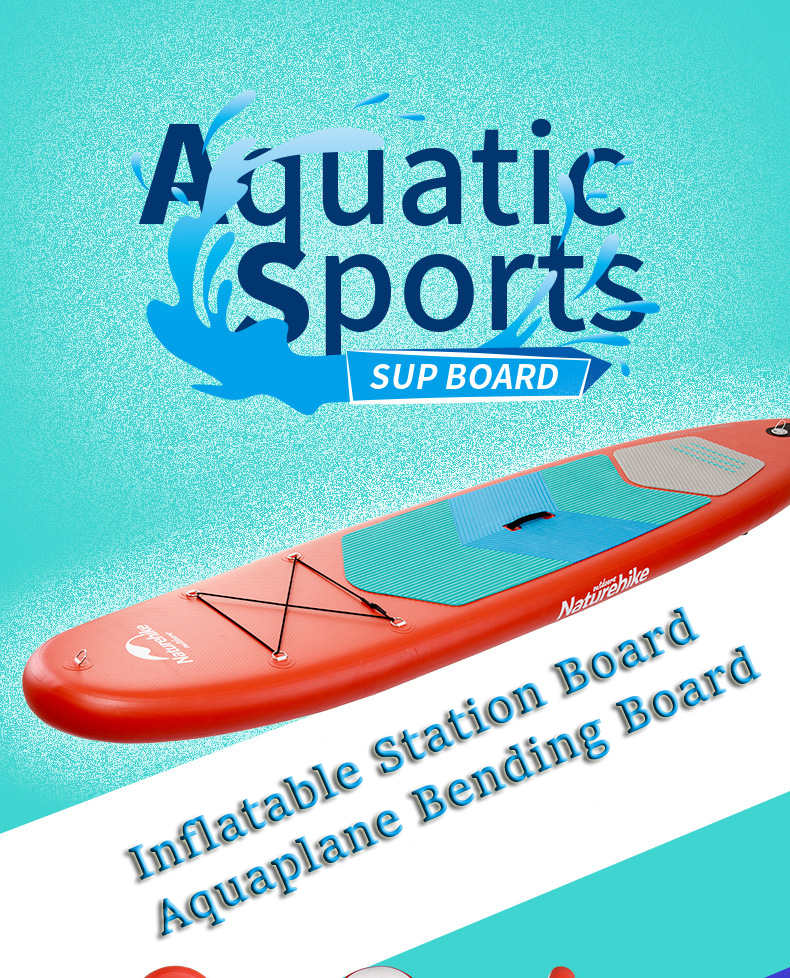 NatureHike Surfboard Inflatable Portable Standing Station Board Aquaplane Bending Board Water Boat