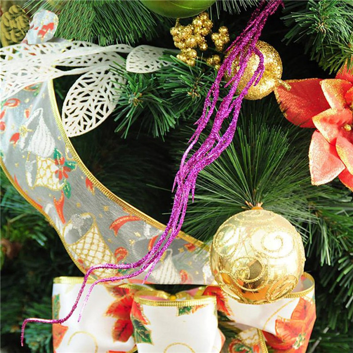 3Pcs Glitter Twigs Branch Decoration Christmas Tree Ornament Xmas Bauble Party Home Decor
