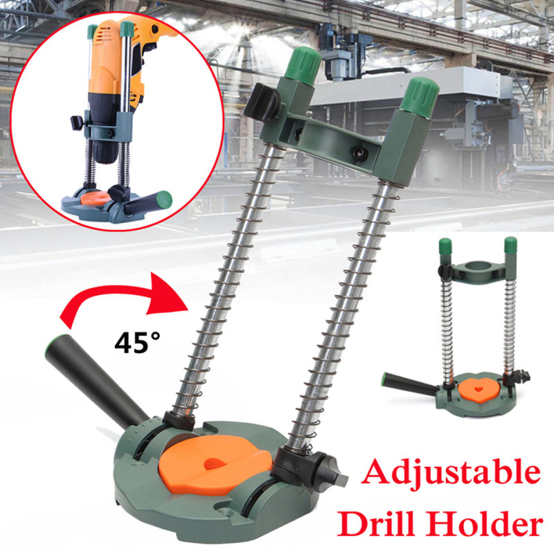 Adjustable Pocket Hole Drill Jig Guide Cordless Drill Holder Drill Bracket Woodworking Tool