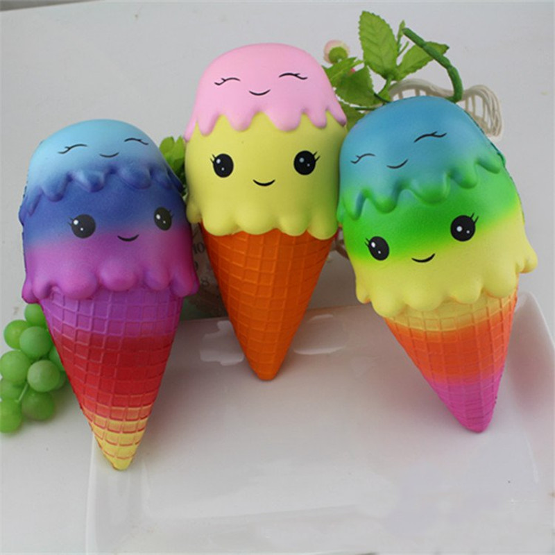Jumbo Squishy Ice Cream Random Colour 22cm Slow Rising Sweet Soft Slow Rising Collection Gift Decor Toy
