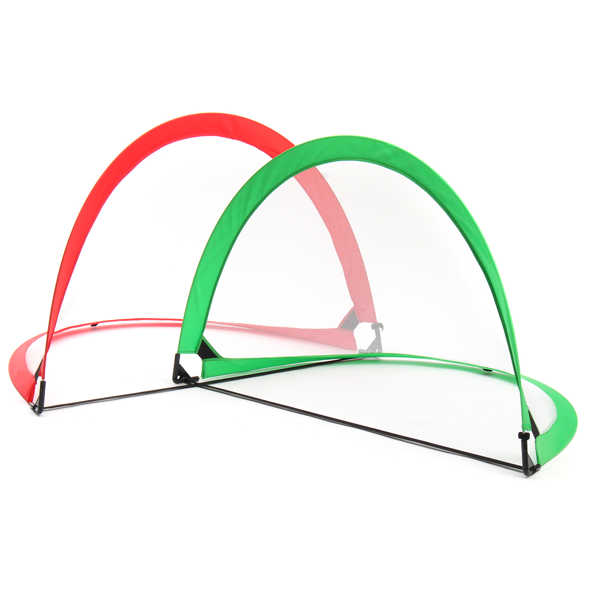 2Pcs Mini Football Soccer Goals for Training Junior Kids Children