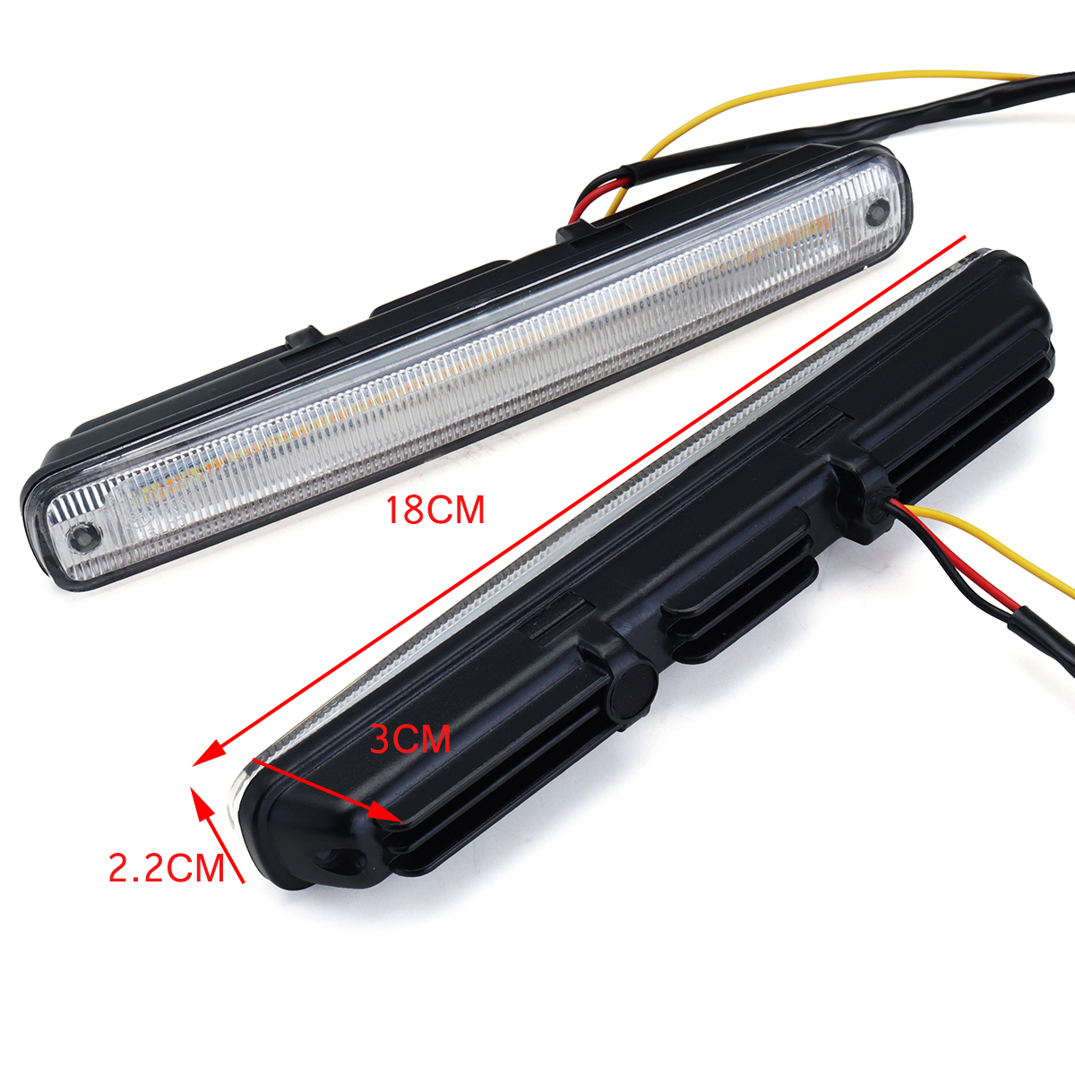 10W 1200LM Car LED Daytime Running Light DRL Turn Signal Indicators Fog Stop Lamp